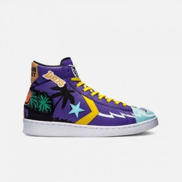 "Converse x Chinatown Market Pro Leather Hi ""Lakers"""